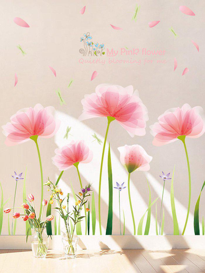 Blooming Flower Print Removable Wall Sticker все цены