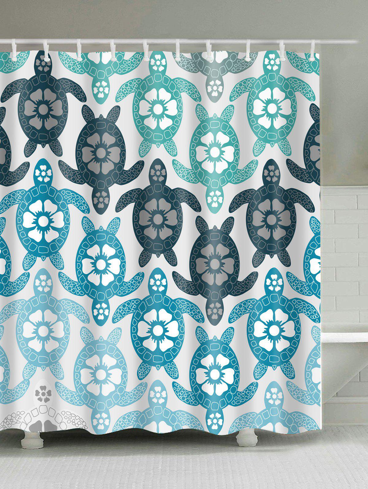 Eco Friendly Tortoise Extra Long Shower Curtain