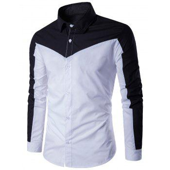 Two Tone Long Sleeve Panel Shirt