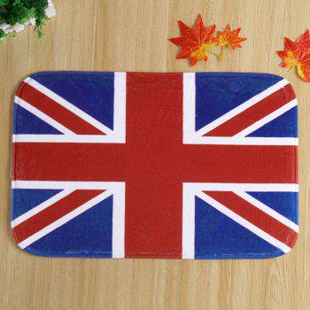 Antislip England Flag Design Room Door Carpet - PURPLISH RED PURPLISH RED