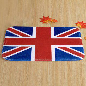 Antislip England Flag Design Room Door Carpet -  PURPLISH RED