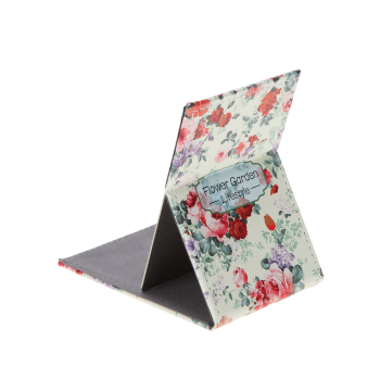 Rectangular Floral Printing Stainless Steel Cosmetic Mirror