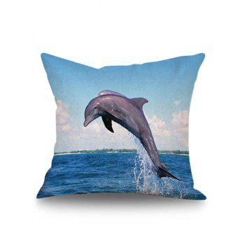 Ocean Dophin Throw Pillow Case Cover