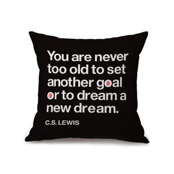 Throw Pillow Case with English Quote Print