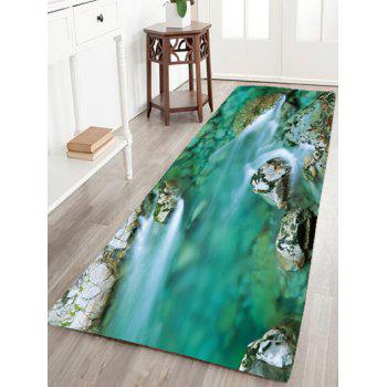 Mountain Stream Water Flannel Skidproof Rug