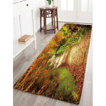 Mountain Path Antiskid Flannel Rug