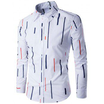 Lines Printed Long Sleeve Shirt