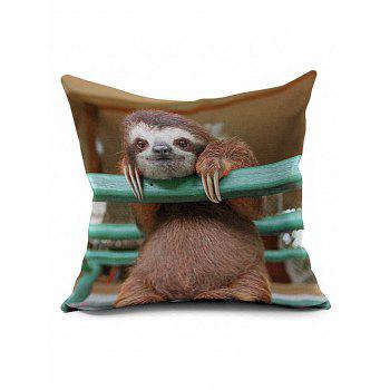 Sloth Print Cushion Cover Throw Pillow Case