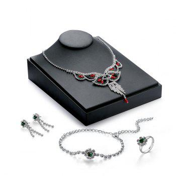 Rhinestone Artificial Gem Jewelry Set