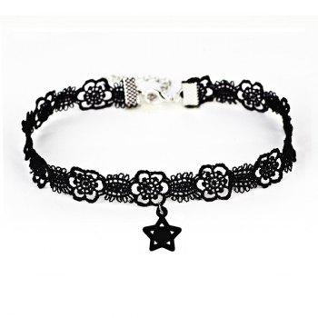 Vintage Star Flower Lace Choker Necklace