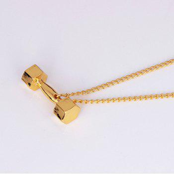 Fitness Barbell Power Necklace -  GOLDEN