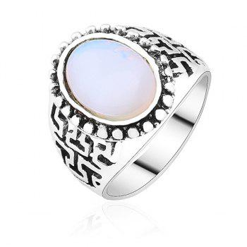 Vintage Artificial Opal Ring - SILVER SILVER