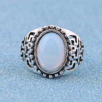 Vintage Artificial Opal Ring - SILVER 8