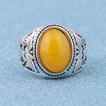 Vintage Faux Gemstone Ring - SILVER 9