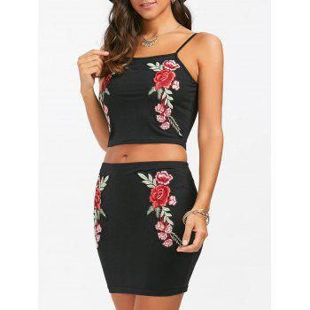 Embroidered Two Piece Mini Dress