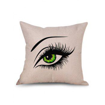 Pretty Eyes Decorative Linen Pillowcase