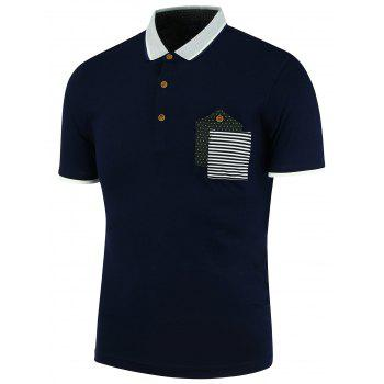 Pocket Stripe Polo Shirt