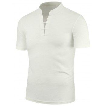 Stretchy Stand Collar Short Sleeve T-Shirt