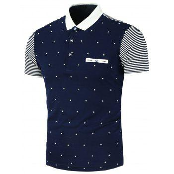 Polka Dot Stripe Polo Shirt