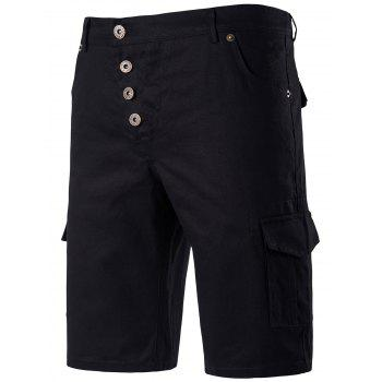 Button Fly Chino Shorts with Pockets