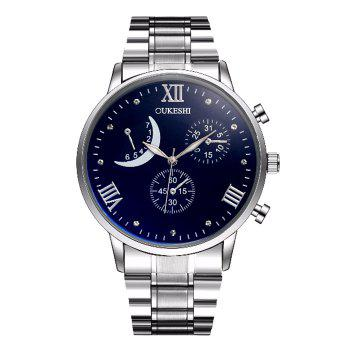 OUKESHI Steel Strap Roman Numeral Wrist Watch