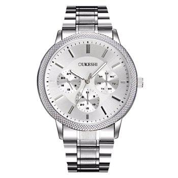 OUKESHI Metallic Strap Analog Watch