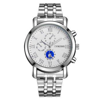 OUKESHI Alloy Strap Roman Numeral Wrist Watch