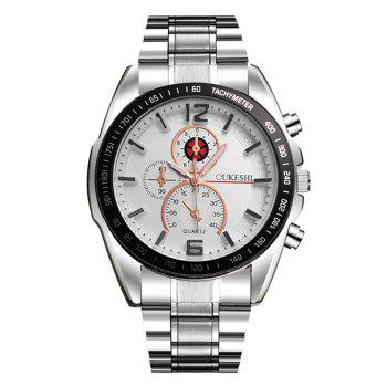 OUKESHI Alloy Strap Tachymeter Watch