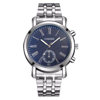 OUKESHI Steel Strap Roman Numeral Analog Watch