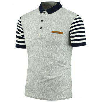 Pocket Sleeve Stripe Polo Shirt