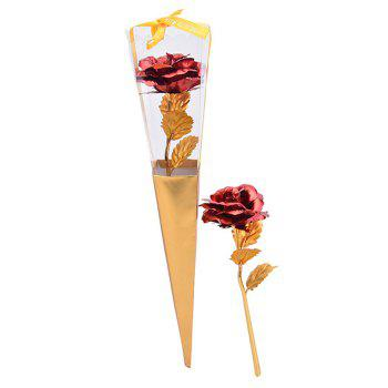 Valentine's Day Gift Plated Rose Flower