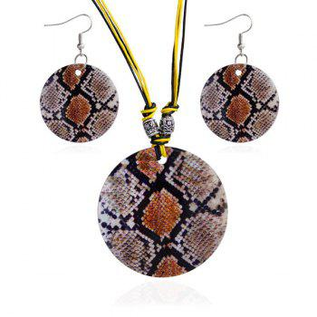 Snakeskin Decorative Pattern Design Shell Jewelry Set