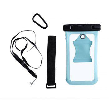 Water Resistant Mobile Phone Case with Arm Band - CYAN CYAN