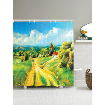 Countryside Road Oil Painting Print Shower Curtain