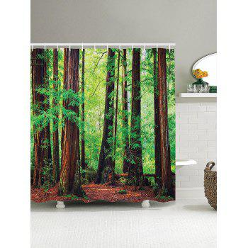 3D Forest Pattern Shower Curtain