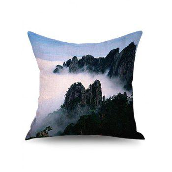 3D Natural Mountain Linen Sofa Pillowcase