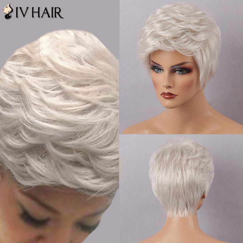 Siv Hair Short Fluffy Inclined Bang Layered Human Hair Wig от Dresslily.com INT