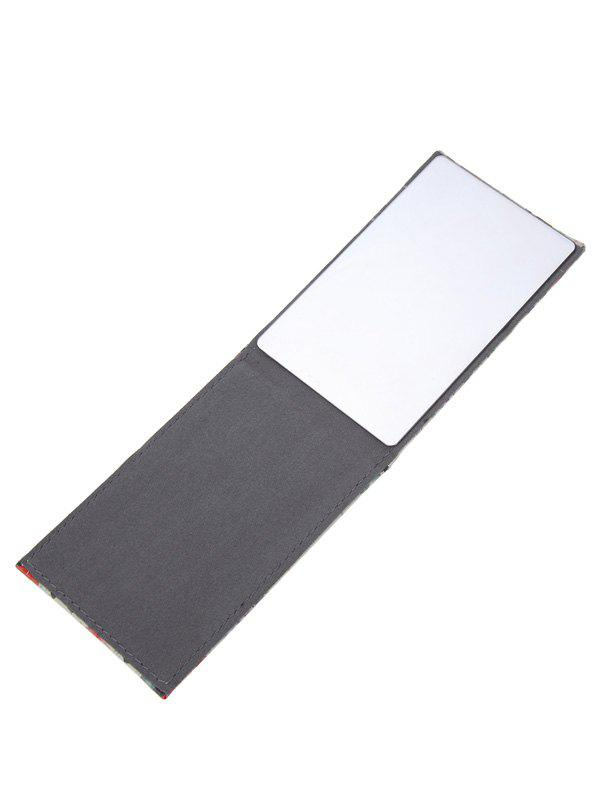 Rectangular Floral Printing Stainless Steel Cosmetic Mirror - multicolorCOLOR