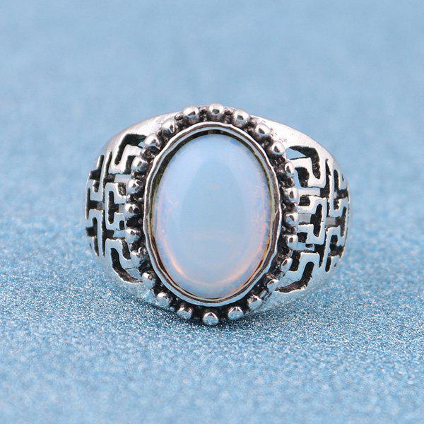 Vintage Artificial Opal Ring - SILVER 9