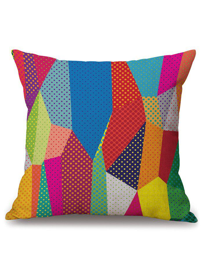 Colorful Geometry Cushion Pillow Case Cover colorful geometry print pillow case cover