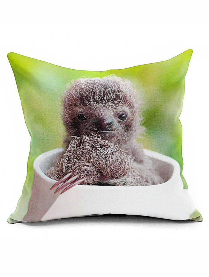 Sloth Cushion Cover Home Decorative Square Pillowcase decorative pillowcase chic towers pattern square comfy cushion cover
