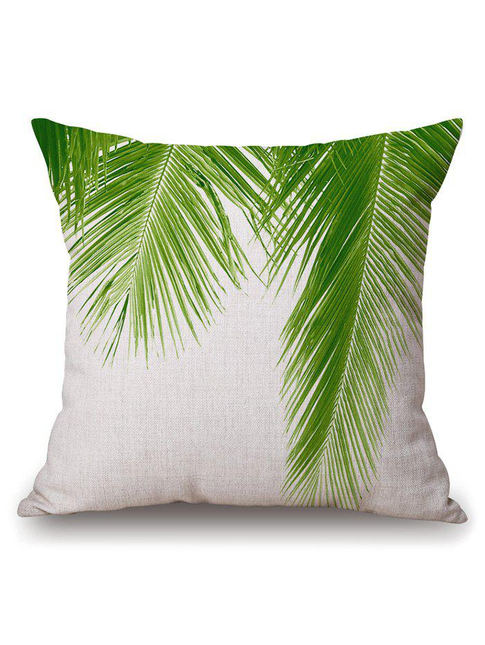 Palm Leaf Throw Cushion Cover Pillow Case halloween tree witch square linen decorative throw pillow case cushion cover