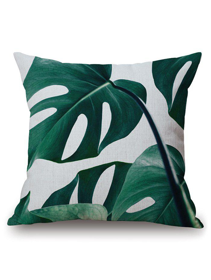 Home Decor Plant Leaf Print Pillow Case flamingo and leaf printed pillow case