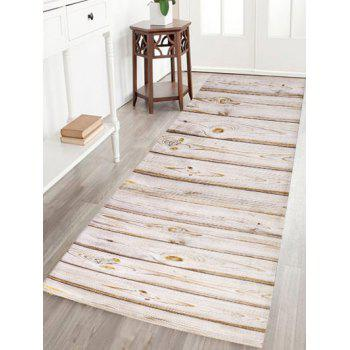 Wood Grain Flannel Skid Resistant Rug