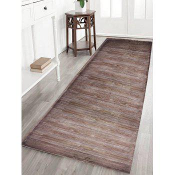 Wood Grain Skid Resistant Flannel Bath Rug