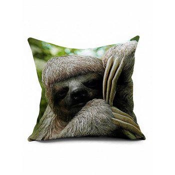 Sloth Square Cushion Cover Throw Pillow Case