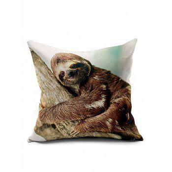 Smile Sloth Bedroom Decorative Throw Pillow Case