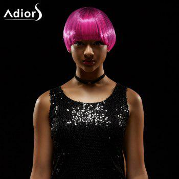 Adiors Short Straight Full Bang Bowl Haircut Synthetic Wig