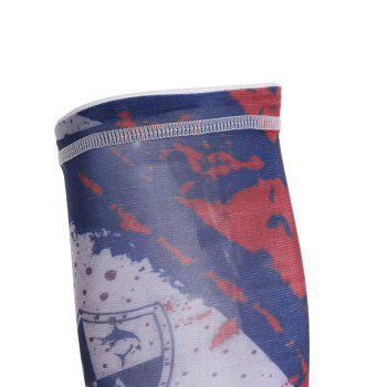 Graphic Quick Dry Cycling Mask and Arm Sleeves - CADETBLUE CADETBLUE
