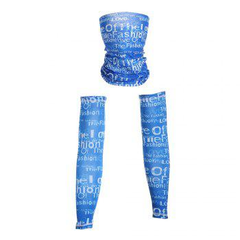 Graphic Quick Dry Cycling Mask and Arm Sleeves - L L